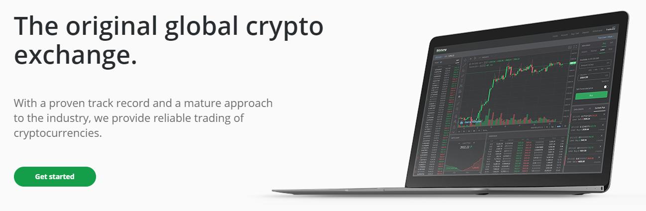 Bitstamp homepage