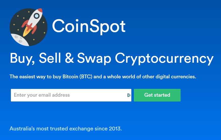 CoinSpot homepage