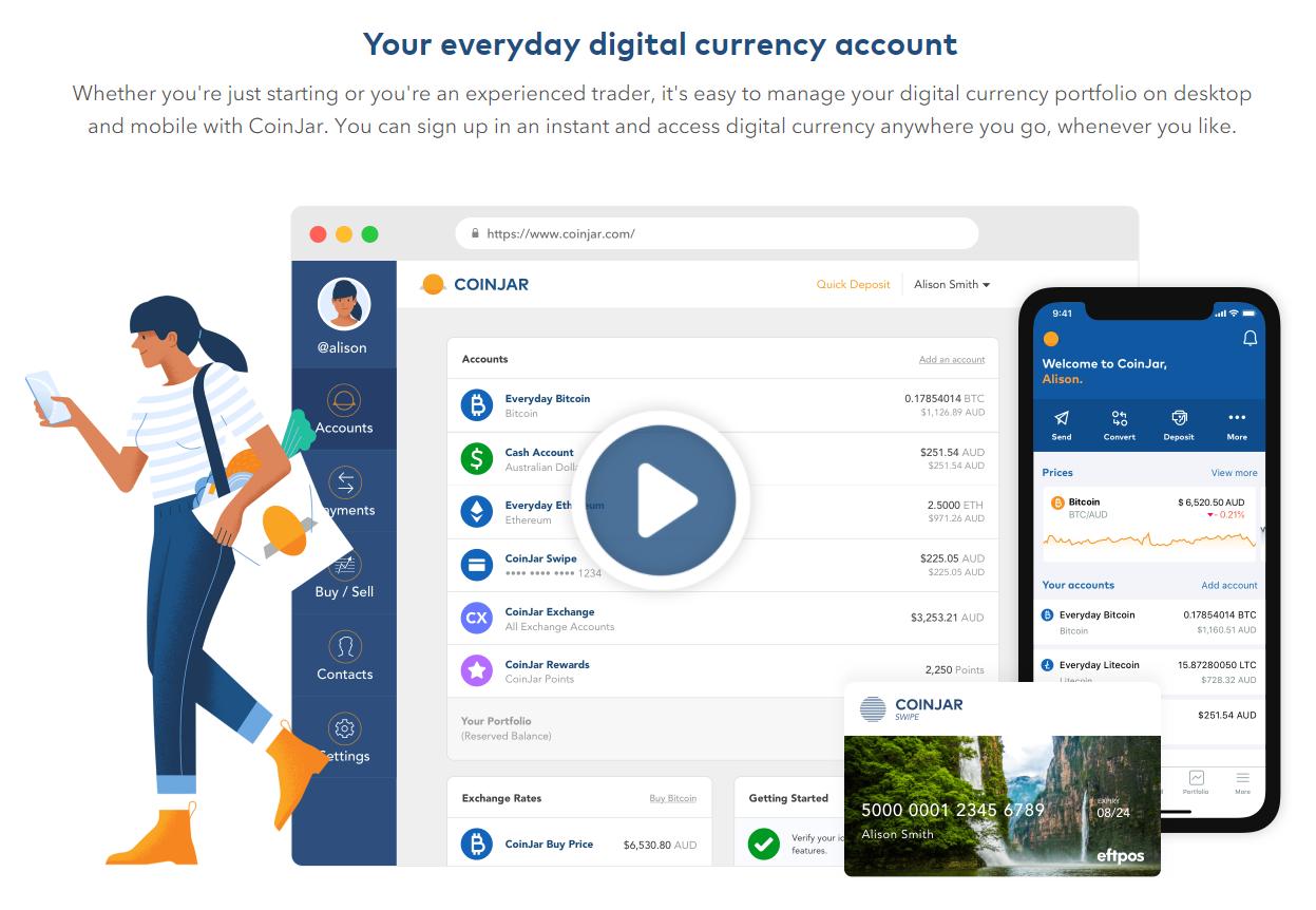 Coinjar homepage