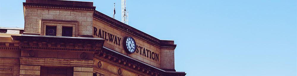 Railway Station in Adelaide Australia