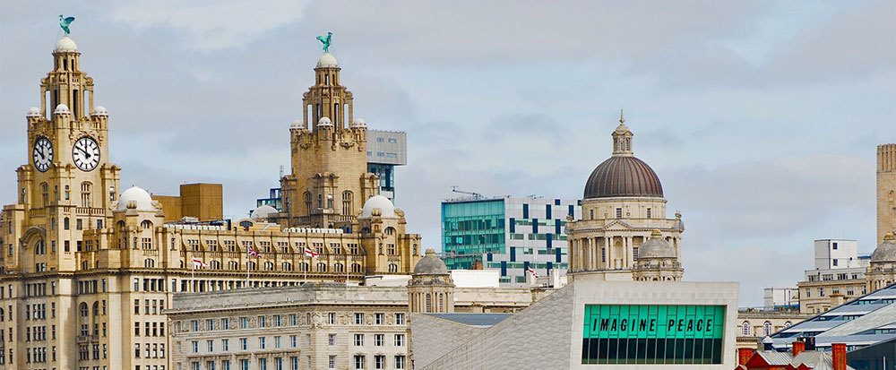 Male and female Liver Bird in Liverpool, UK